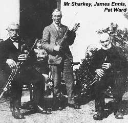 Sharkey, Ennis and Ward, uilleann pipers